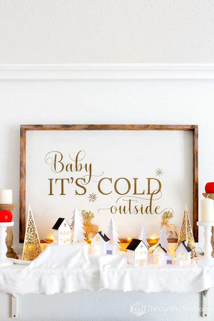 Gorgeous Rustic Oversized Reversible Christmas Wood Sign