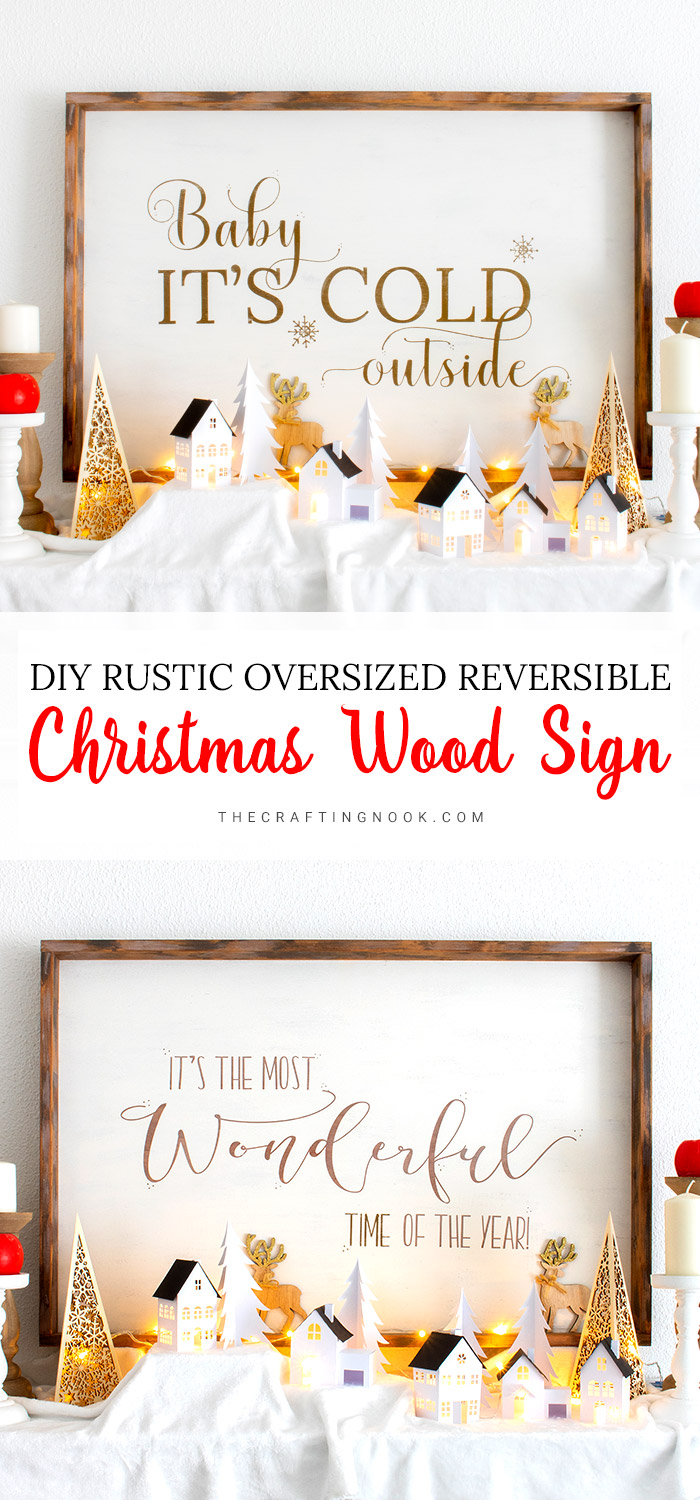 How to Make a Rustic Oversized Reversible Christmas Wood Sign