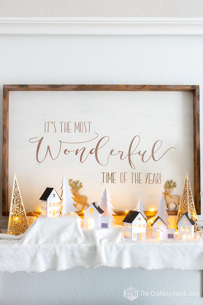 Gorgeous Decorative Rustic Oversized Reversible Christmas Wood Sign
