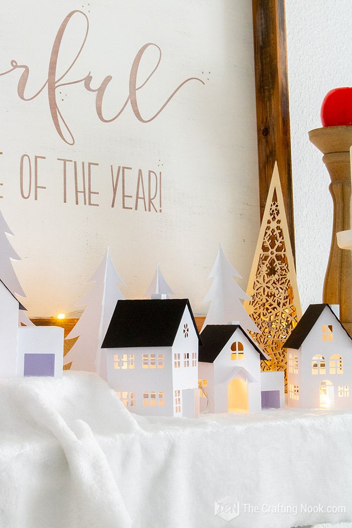 Tutorial Paper Christmas Village