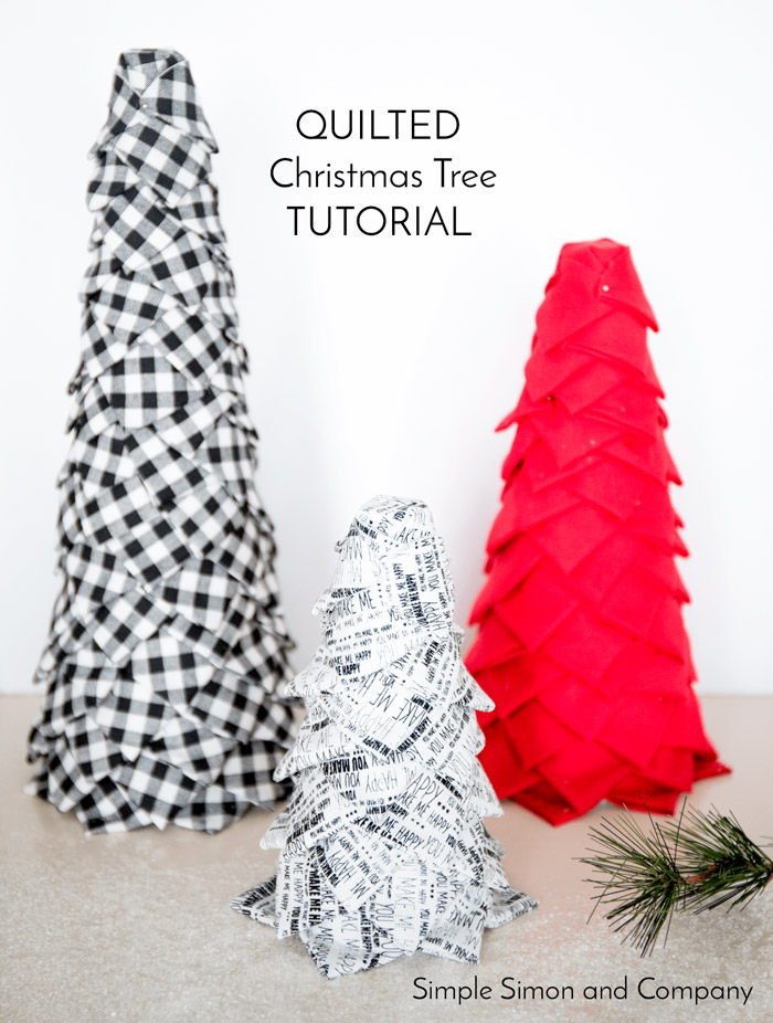 No Sew Quilted Christmas Trees by Simple Simon And Company