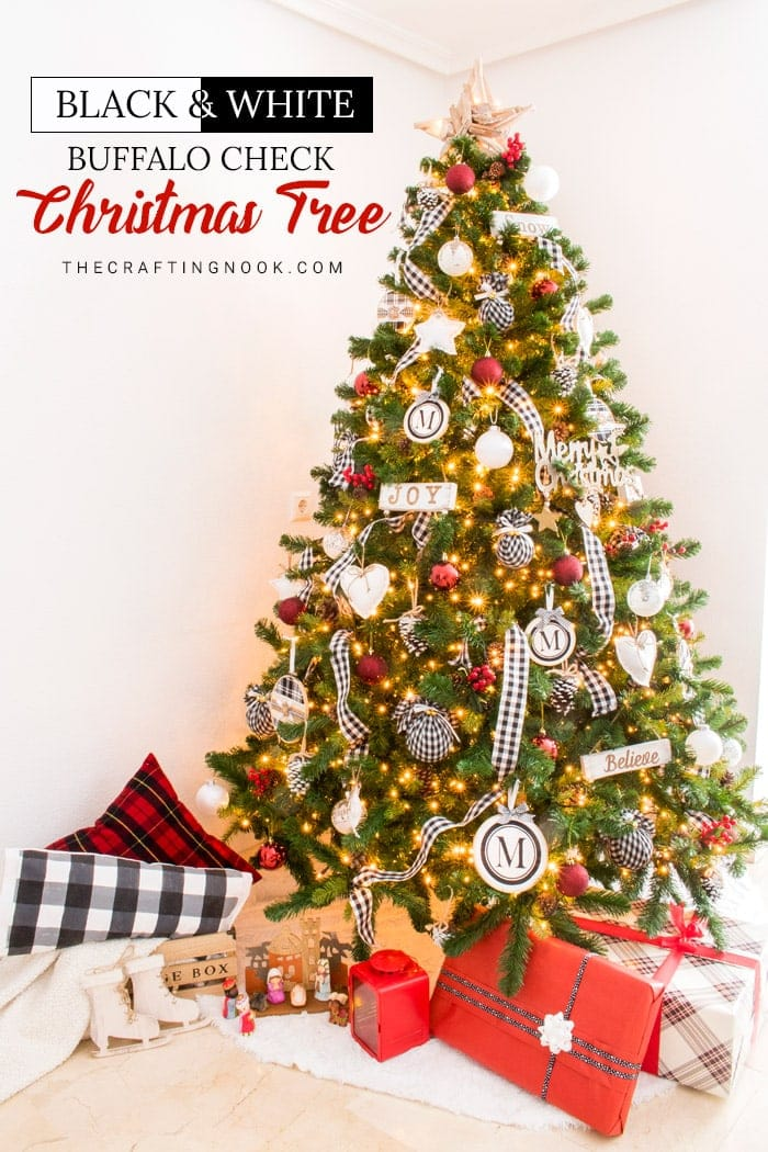 Black And White Buffalo Check Christmas Tree 2019 The Crafting Nook