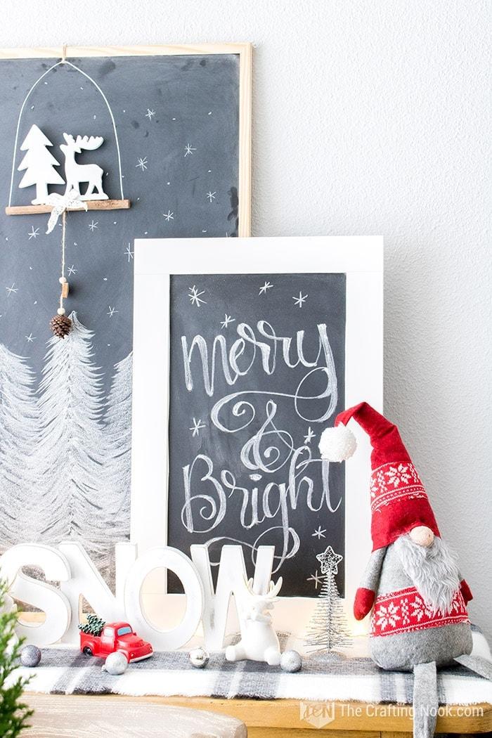 Black and White Buffalo Plaid Christmas Home Tour Merry & Bright