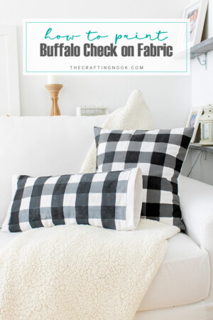 How to Paint Buffalo Check on Fabric