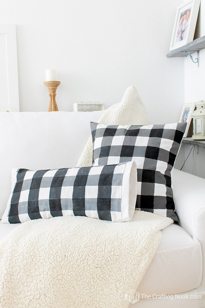 How to Paint Buffalo Check on Fabric Easily