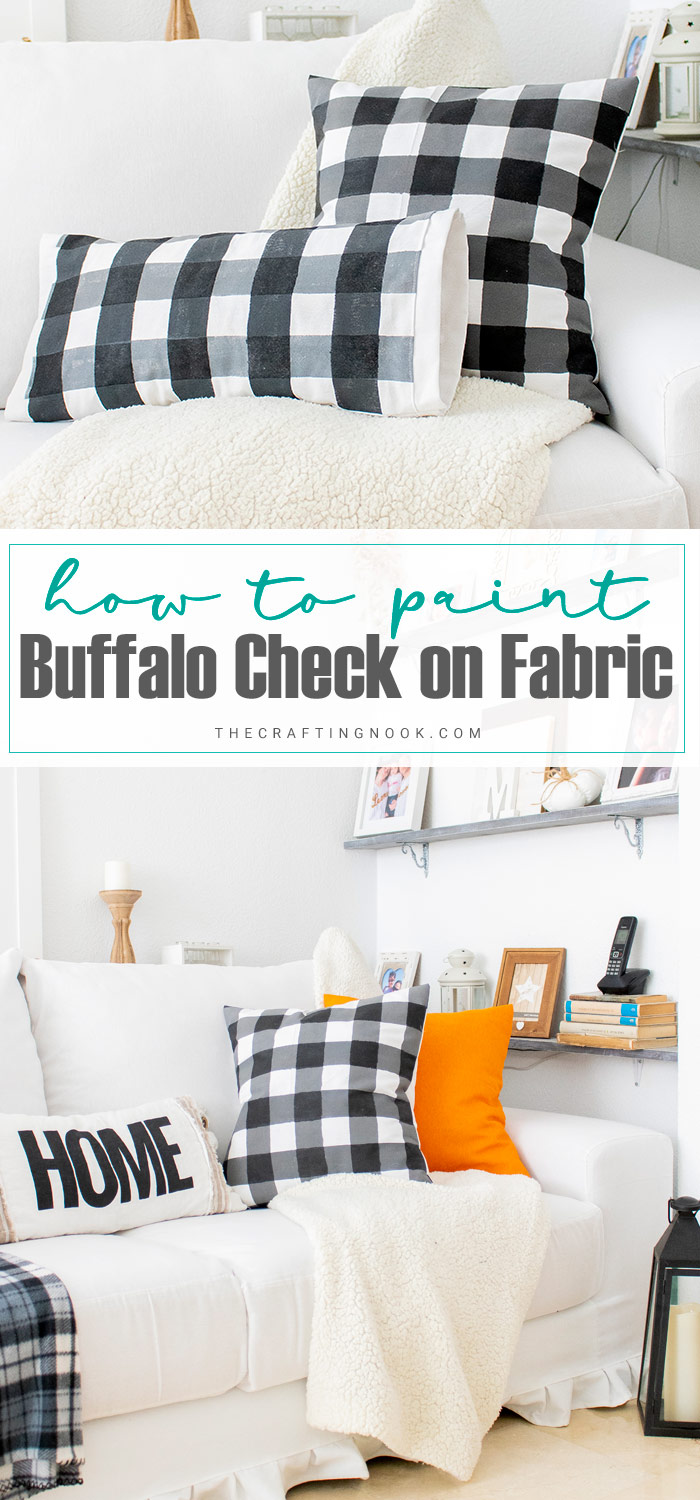 How to Paint Buffalo Check on Fabric PIN
