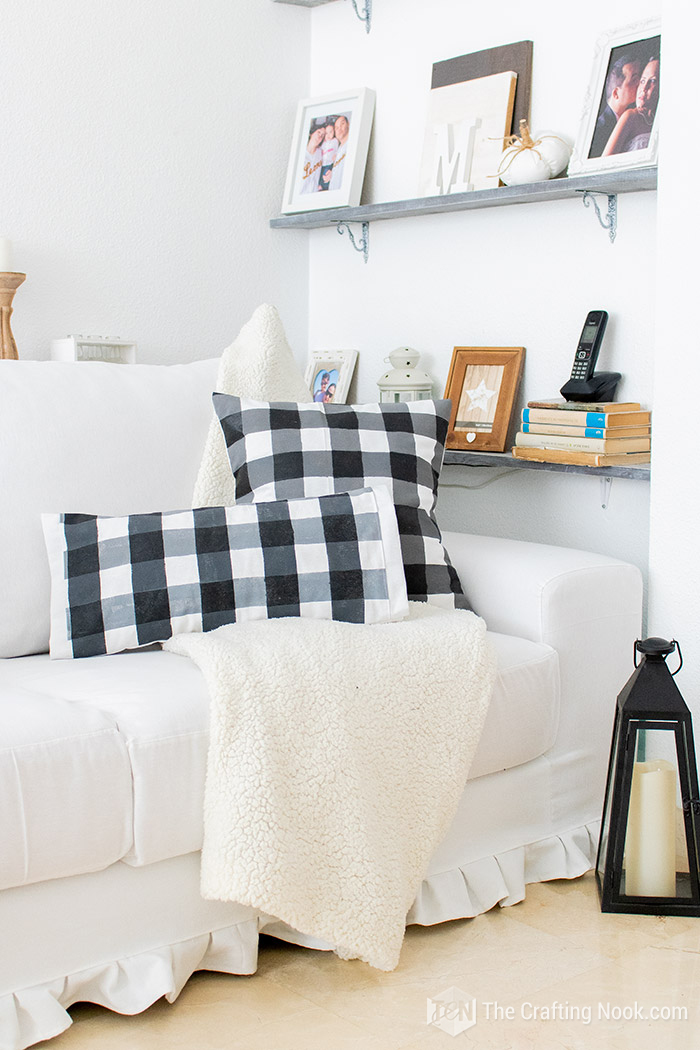 How to Paint Buffalo Check on Fabric Pretty