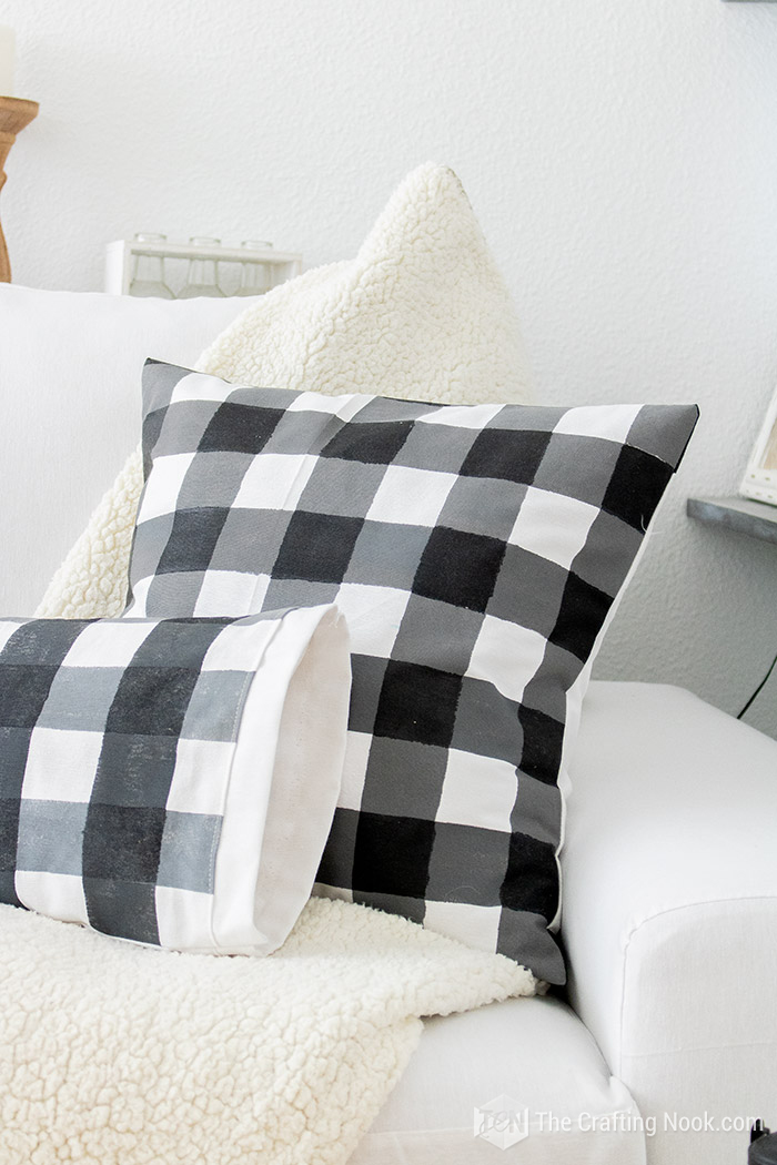 How to Paint Buffalo Check on Fabric the Easy Way