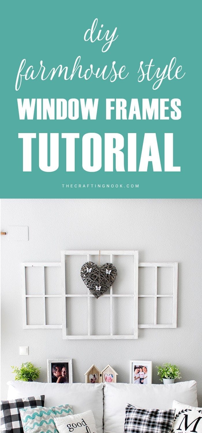 How to make Farmhouse style Window Frames easy