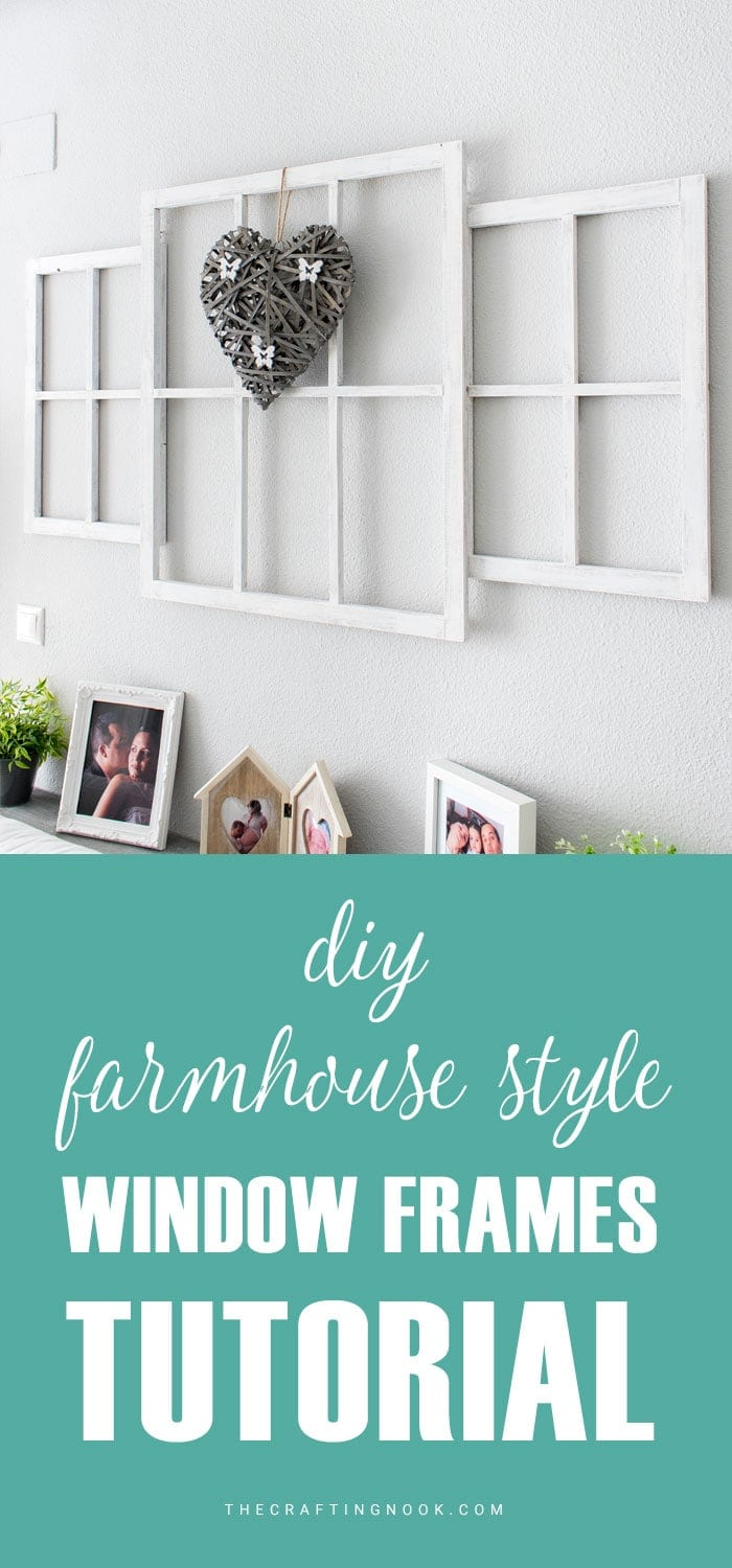 Learn How to make Farmhouse style Window Frames