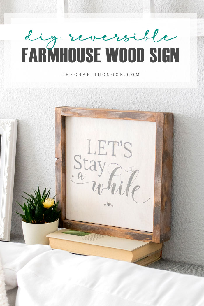 DIY Reversible Farmhouse Wood Sign