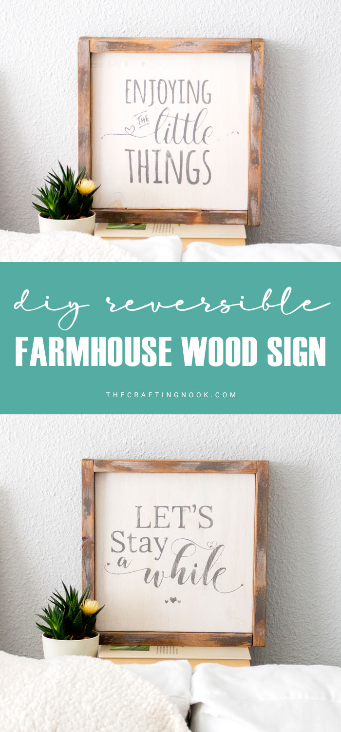 DIY Reversible Farmhouse Wood Sign (with video)