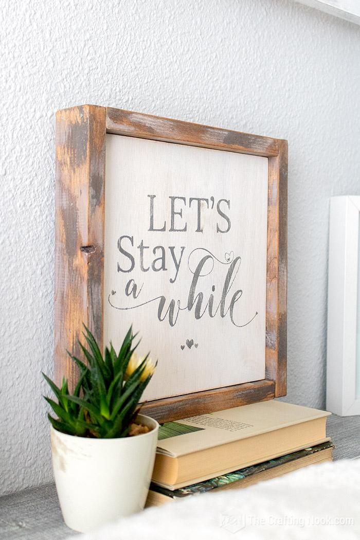Easy DIY Reversible Farmhouse Wood Sign