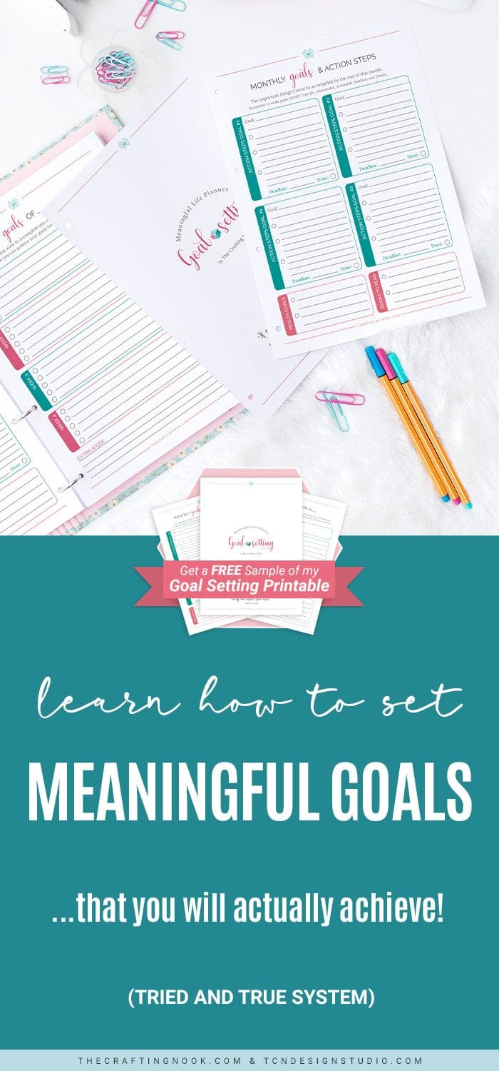 Meaningful Life Goal Setting Planner PINT