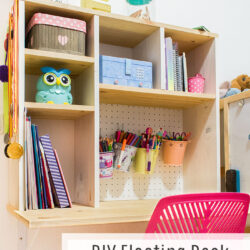 DIY Floating Desk for Kids
