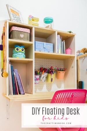DIY Floating Desk for Kids
