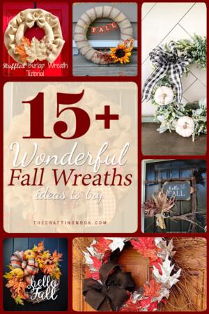 15 Wonderful Fall Wreaths. #falldecor #fallwreaths #diywreath