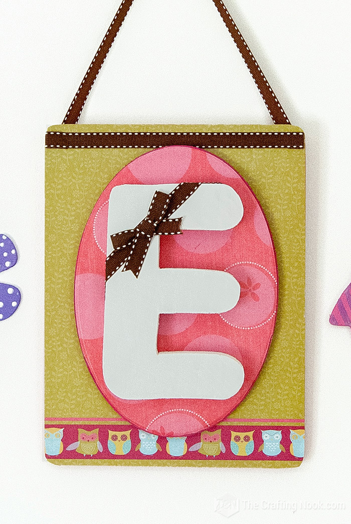 Mod Podge Monogram Wall Art For little Girls