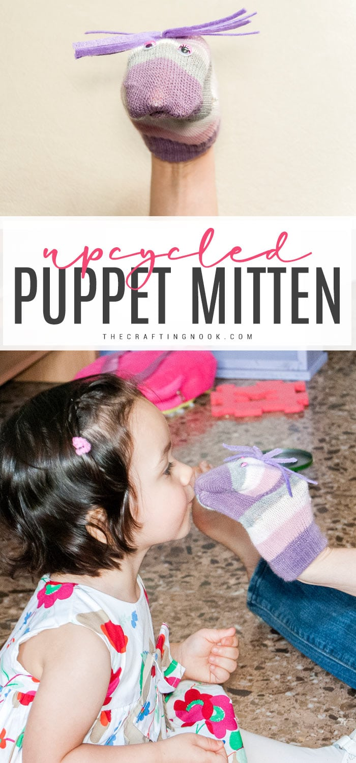How to make a mitten cute puppet
