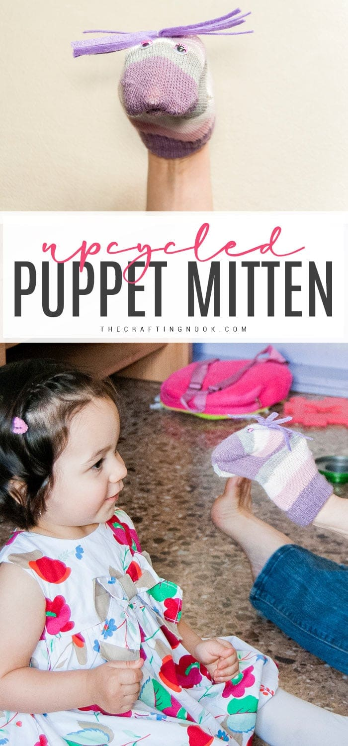Learn how to make an upcycled puppet with a mitten