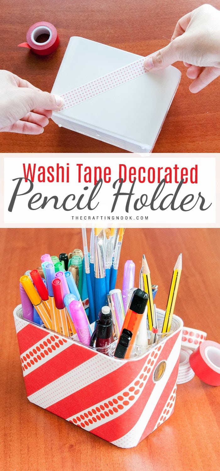 Washi Tape Pencil Holder Tutorial