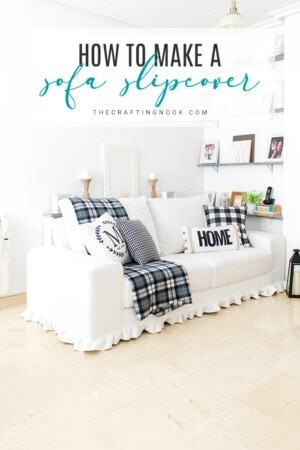 DIY Sofa Slipcover. Update, Refresh, Renew