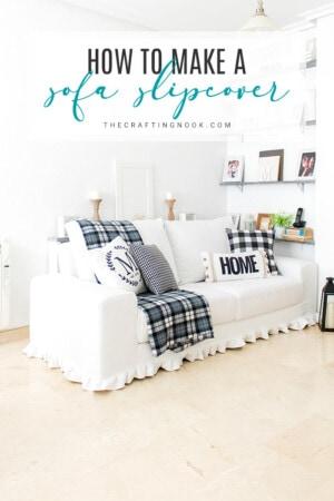 DIY Sofa Slipcover. Update, Refresh, Renew