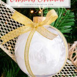 DIY Feather Filled Christmas Ornament