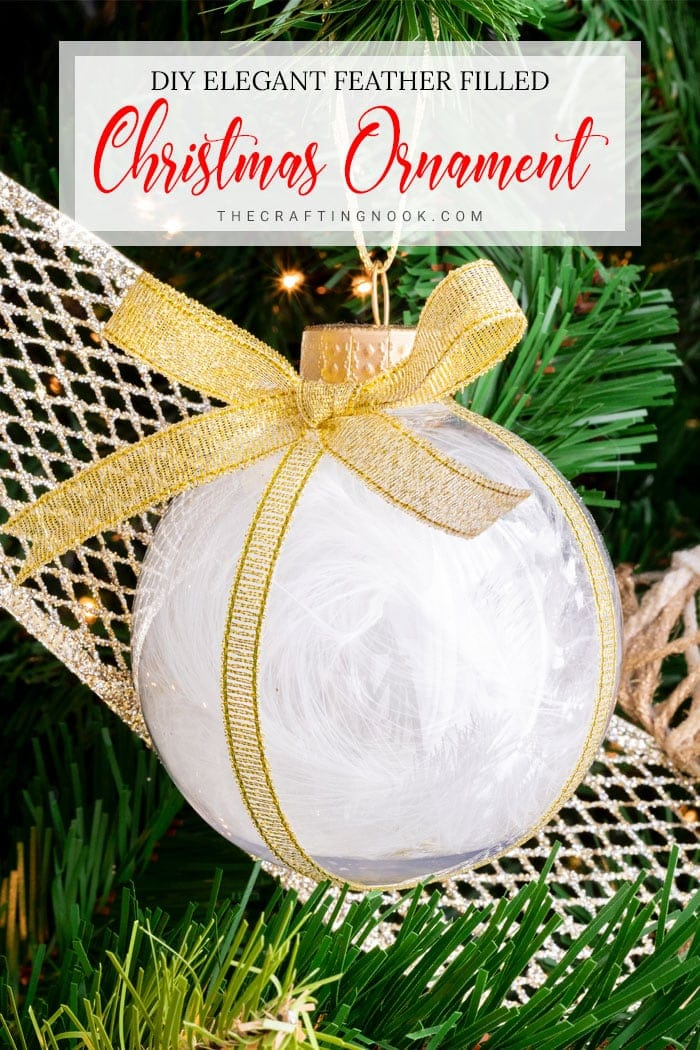 Cute and Elegant Feather Christmas Ornament