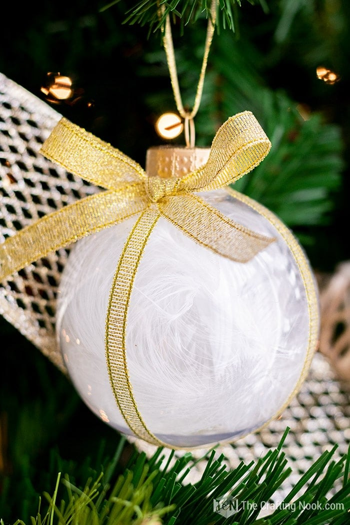 Feather Ornaments with gold glam