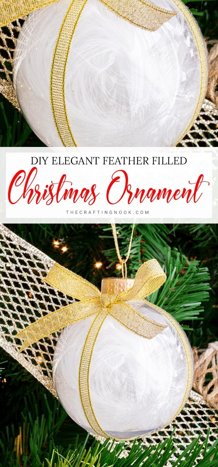 DIY Feather Christmas Ornament for a glam Tree