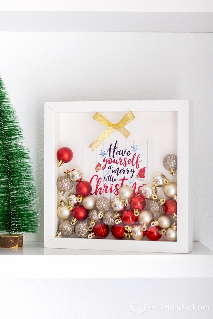 Red and Gold dec orated Shadow Box