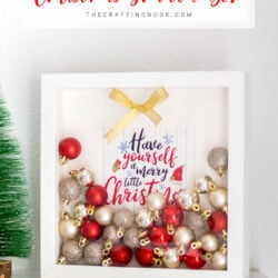 Lovely Christmas Ornaments Shadow Box DIY
