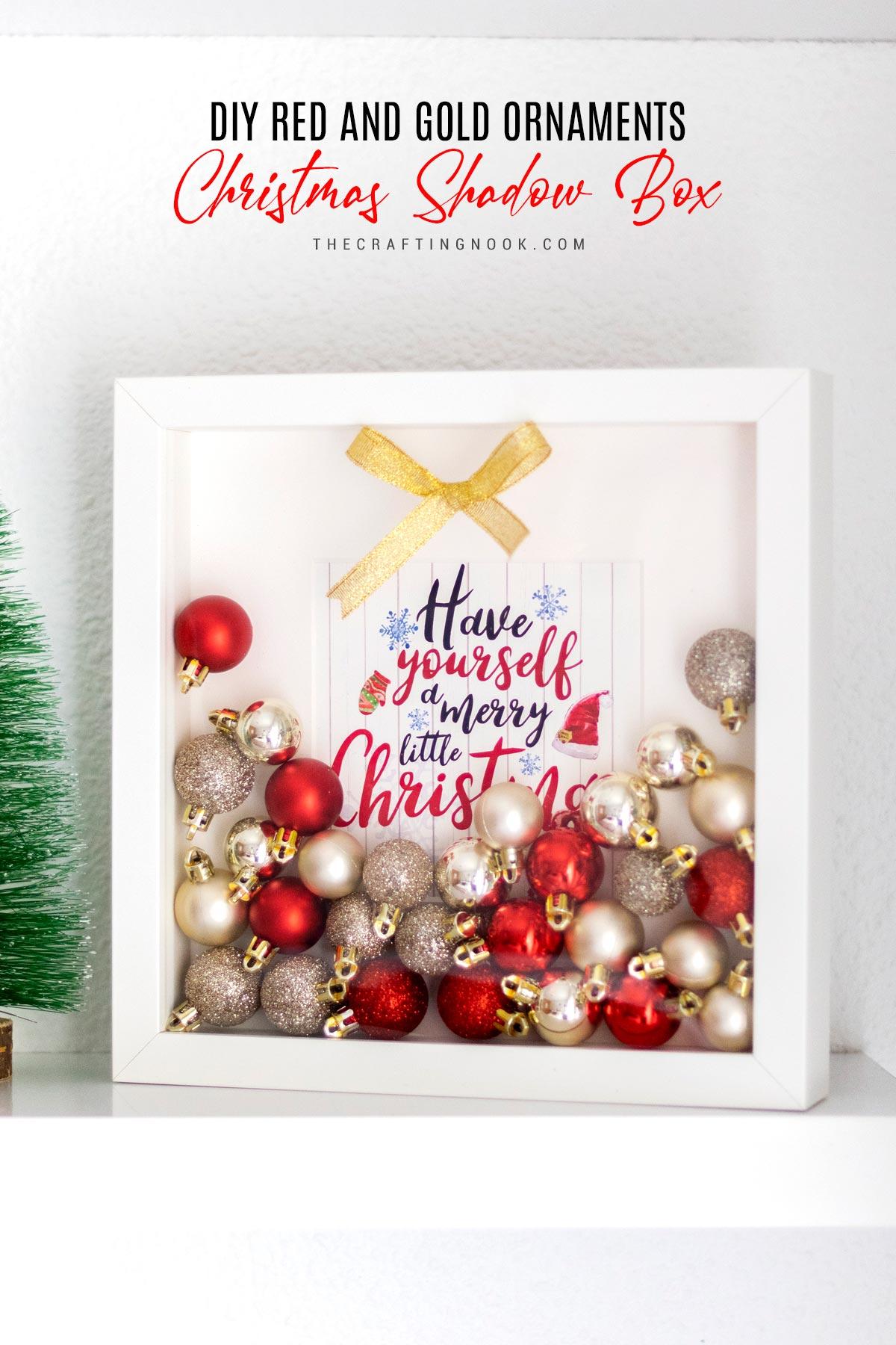 Lovely Christmas Ornaments Shadow Box DIY