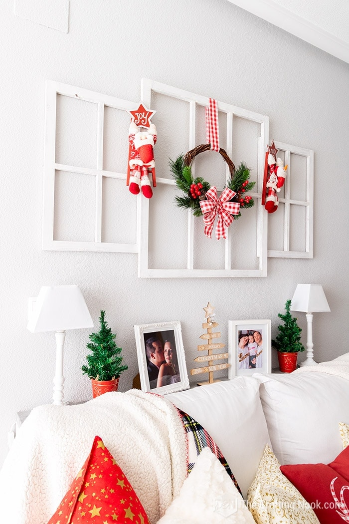 Cute and easy to make Red and White Rustic Christmas Wreathy-Red-and-White Rustic Christmas Wreath