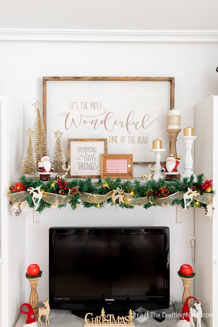 Elegant Holiday Mantle