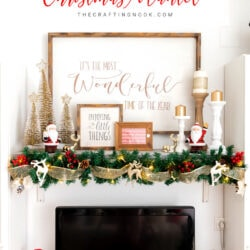 Red and Gold Gorgeous Christmas Mantel