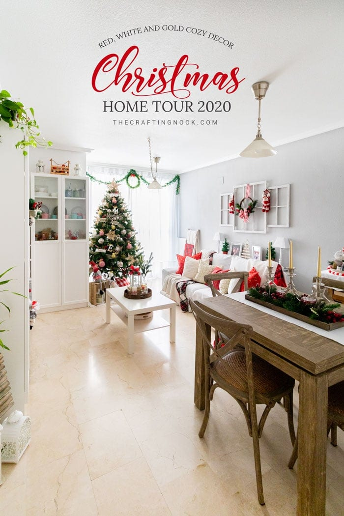 Red White and Gold Cozy Decor Christmas Home Tour