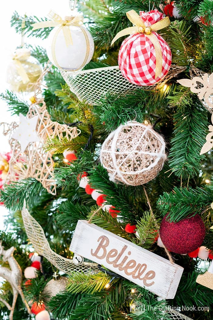 Different Christmas rustic Ornaments