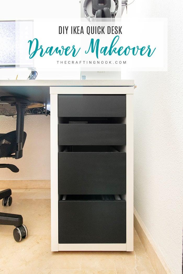 DIY Quick IKEA Desk Drawer-Makeover