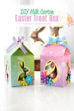 DIY Milk Carton Easter Favor Box