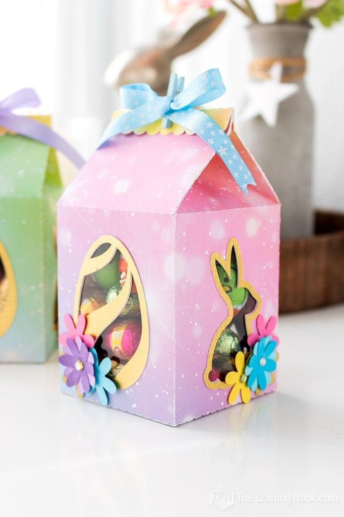 Pink Milk Carton Easter Favor Box
