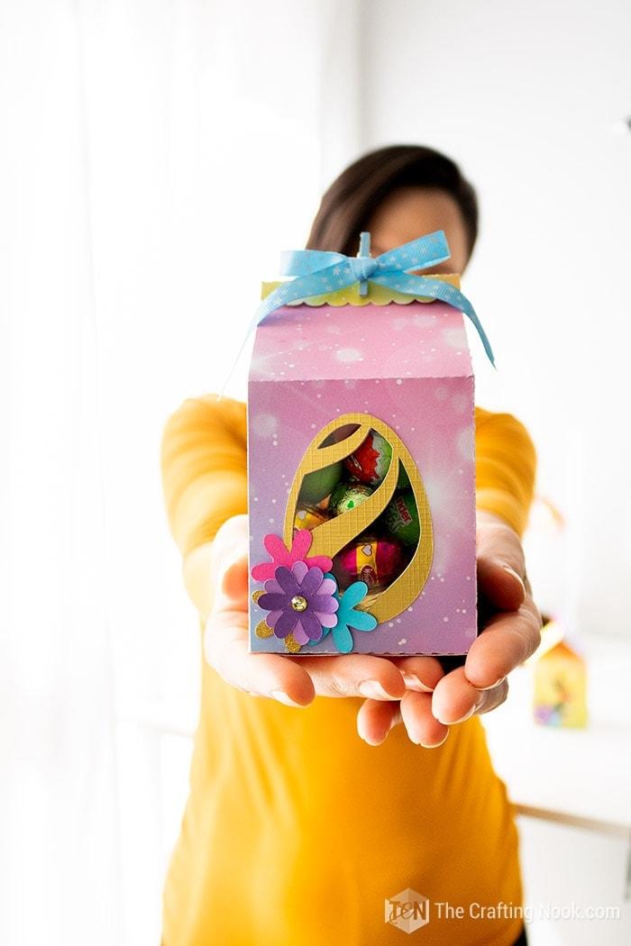 Milk Carton Easter Favor Box Gift