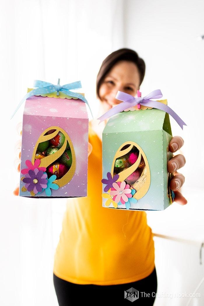 Super Cute Milk Carton Easter Favor Box