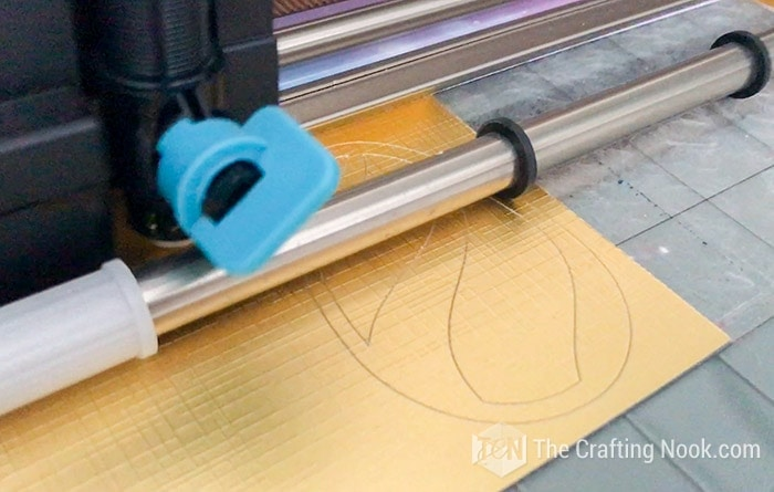 Cutting the templates on a cutting machine