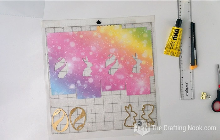 Cutout of the elements to make the Treat boxes