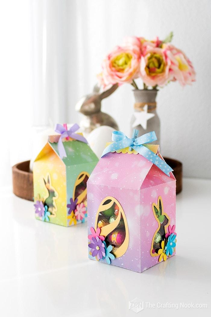 Cute Milk Carton Easter Favor Box