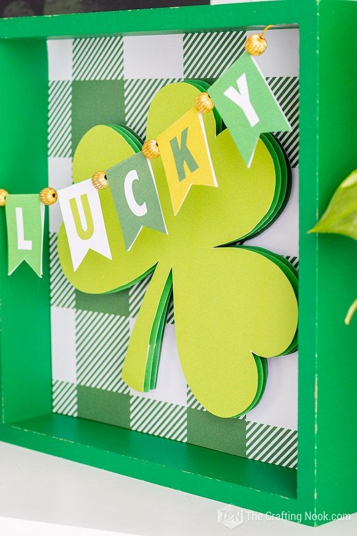 Layered Lucky Shamrock St. Patrick's Day Frame