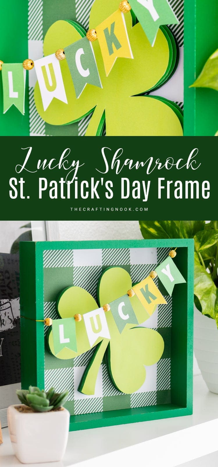 Lucky Shamrock St. Patrick's Day Frame PIN