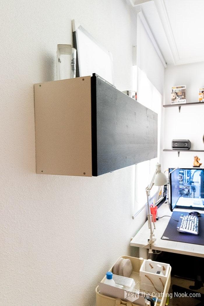 Trofast IKEA Hack. Installing a door to hide the mess!